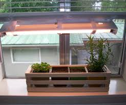 Window Sill Herb Garden Designs Simple Indoor Herb Garden With Adjustable Grow Light 5 Steps