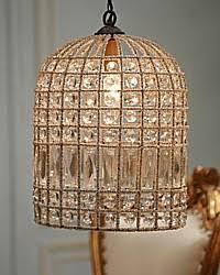 Birdcage Chandeliers Beaded Parisian Bird Cage Chandelier