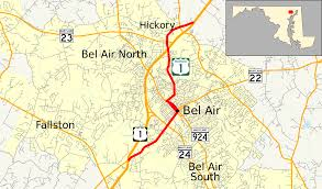 Md County Map U S Route 1 Business Bel Air Maryland Wikipedia