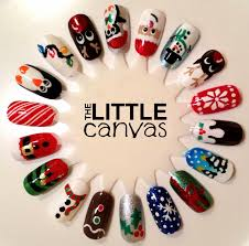 christmas nail art wheel the little canvas
