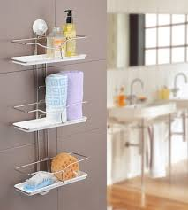 Telescopic Bathroom Shelves Shower Caddy Hanging Telescopic Corner White Shelf Kitchen