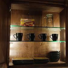 Glass Shelves Cabinet Versa Led Cabinet Light Strip Kit Dekor Lighting
