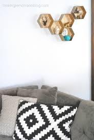 Wall Shelves Ideas Living Room Diy Hexagon Wall Shelves The Easy Way Hometalk