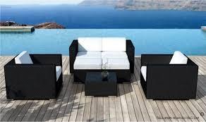 canape de jardin pas cher salon jardin resine tressee canape exterieur materiaux naturels
