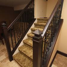 ornamental iron stair rail mediterranean staircase cleveland