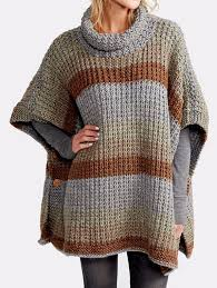 free knitting pattern for 2 row repeat cozy up poncho the 2 row