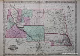 Montana Map With Cities And Towns by Johnson U0027s Nebraska Dakota Idaho And Montana Sold