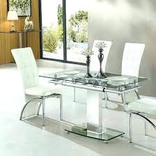 White Glass Extending Dining Table Glass Extending Dining Tables Maxqualy Site