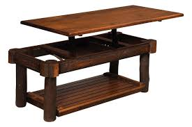 Rustic Coffee Tables And End Tables Rustic Hickory Lift Top Coffee Table From Dutchcrafters Amish