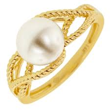 8mm ring cultured pearl ring in 14kt yellow gold 7 5 8mm pearl