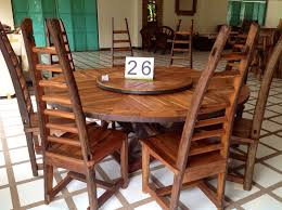 dining room table with lazy susan handcrafted reclaimed ox cart teak wood dining table with lazy