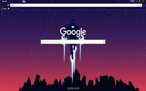 google themes lights iron man material design chrome web store