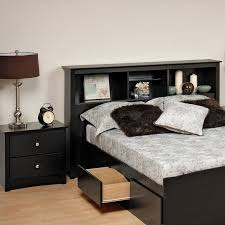 prepac sonoma black wood bookcase headboard 2