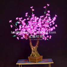 led bonsai silk flower tree light indoor using buy decorative