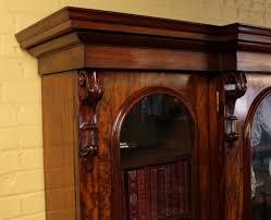 large 3 door mahogany bookcase c 1850 antiques atlas