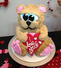 frosted art valentine teddy bear cake cake decorating how to