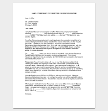 temporary appointment letter 11 for word and pdf format dotxes