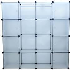 aosom homcom extra wide modular closet organizer w 8 cubes