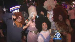 hollywood halloween west hollywood halloween carnaval attracts 500k people abc7 com
