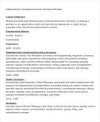 Executive Secretary Resume Sample by 20 Work Resume Templates Free U0026 Premium Templates