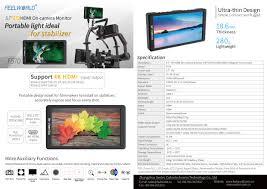 feelworld f570 5 7 u2033 4k on camera monitor with hdmi input output