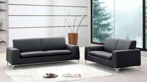 Modern Leather Sofa Black Black Or White Leather Contemporary Sofa