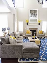 Blue Living Room Furniture Ideas Yellow Grey And Blue Living Room Ideas 1025theparty