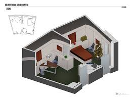 Uss Enterprise Floor Plan by U S S Enterprise Kirk U0027s Quarters By Falke2009 On Deviantart