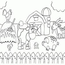 farm scene coloring page funycoloring