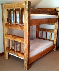 Barnwood Bunk Beds Reclaimed Colorado Barnwood Bunk Bed