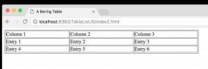 Html Scrollable Table A Scrollable Selectable Html Table With Javascript And Css