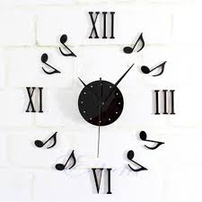 music note home decor new diy music note wall clock sticker for home office usually