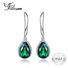 emerald drop earrings jewelrypalace 8 5ct created emerald drop earrings 925 sterling