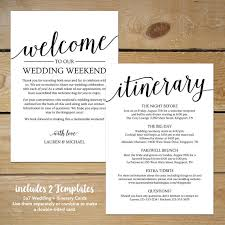 welcome to our wedding bags wedding itinerary template printable welcome itinerary wedding
