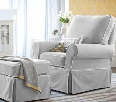 Slipcover Chair And Ottoman Pb Kids Comfort Grand Swivel Rocker U0026 Ottoman Pottery Barn Kids