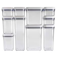 20 clear plastic kitchen canisters stacking recycling amp