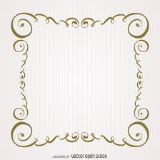 vintage gold swirls frame vector download