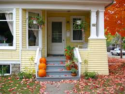 house porch yellow house porch in the fall julie weatherbee flickr