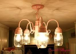 Shabby Chic Kitchen Lighting by Shabby Chic Mason Jar Chandelier Hometalk