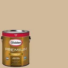glidden premium 1 gal hdgo63d historic tan flat latex exterior