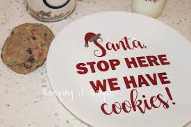 cookies for santa plate best christmas gift santa cookies plate with cookies in