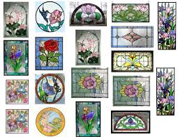 mini stained glass ls dollhouse miniature 1 12 stained glass windows clear stickers ebay