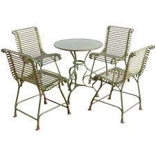 Metal Garden Table And Chairs Authentic Metal Garden Set By Usine S Sauveur Arras At 1stdibs