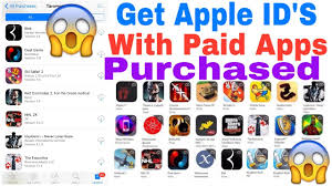 get apple id s for free app store paid apps paid for free