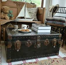 vintage trunk coffee table travel trunk coffee table repurposed pinterest trunk coffee
