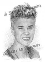 justin bieber 2013 pencil drawing prints to buy