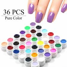 aliexpress com buy 36 pure color uv gel nail art tips diy