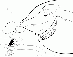 Bruce Finding Nemo Coloring Page 554578 Nemo Color Pages