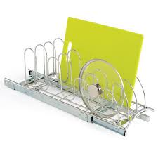 lynk chrome pull out cabinet drawers lynk chrome pull out lid holder organizations organizing and