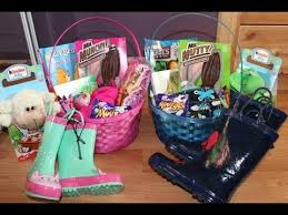 easter gift baskets for toddlers what s in our easter baskets